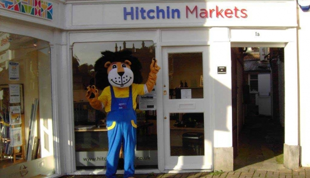 Come meet the Hitchin Markets Mascot